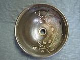 手洗い器 大人の黒(彫り梅紋)Cタイプ