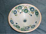 陶器手洗器・椿(緑)