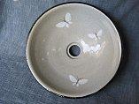 陶器 洗面ボール(蝶)
