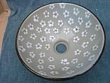 手洗器化粧花・陶器手洗い鉢